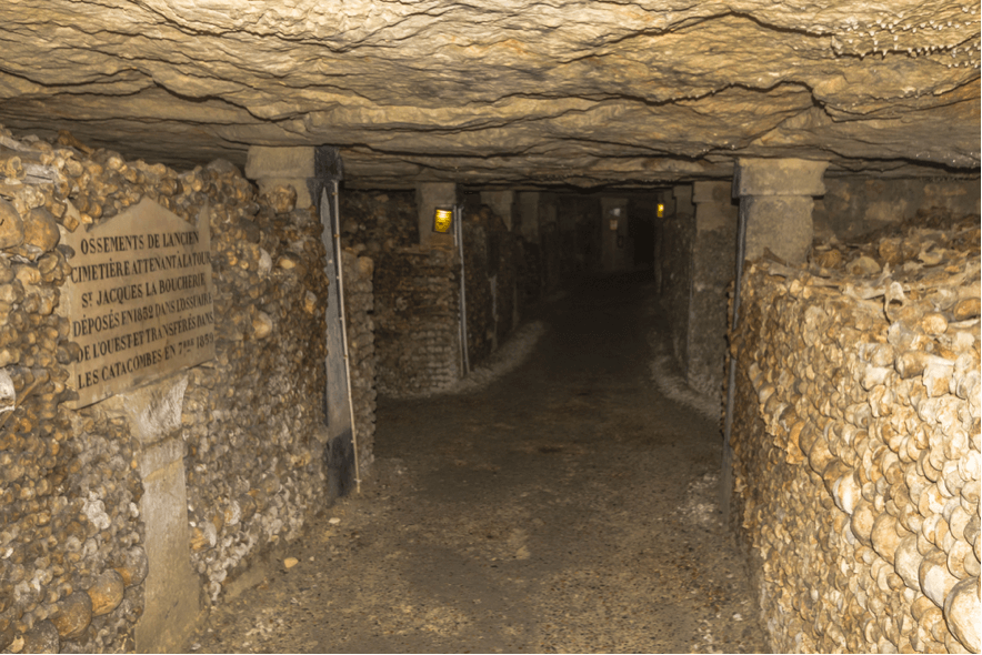 Paris Catacombs tunnels