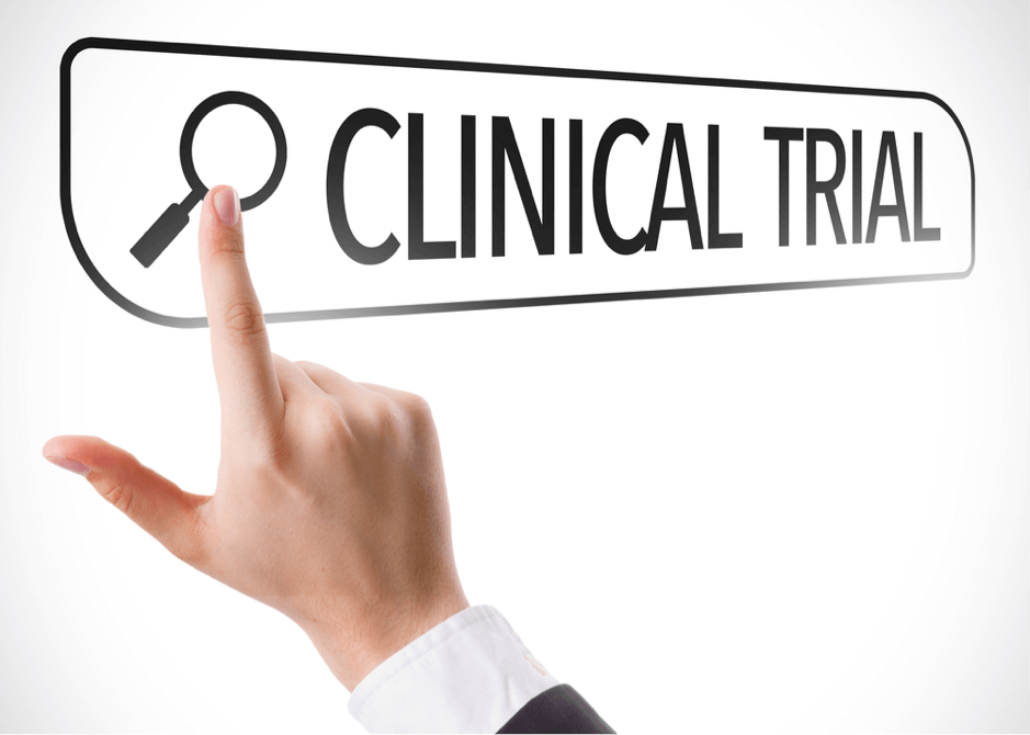 searching online for a clinical trial