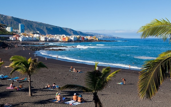 black sand beach in Tenerife