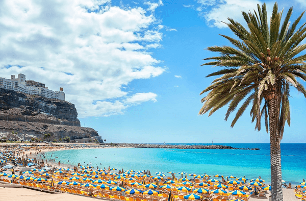 Gran Canaria beach in the Canary Islands
